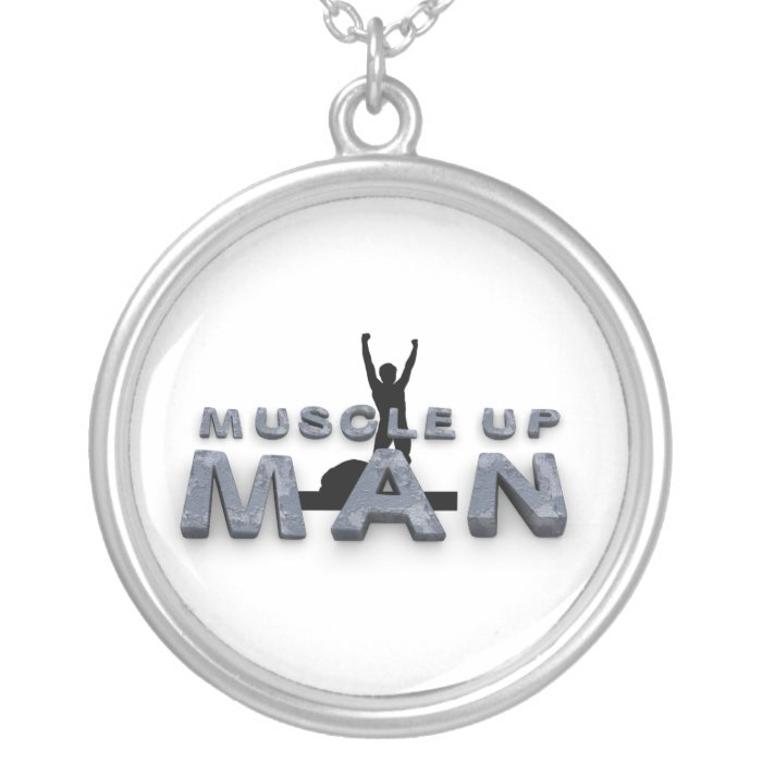 TOP Muscle Man Silver Plated Necklace
