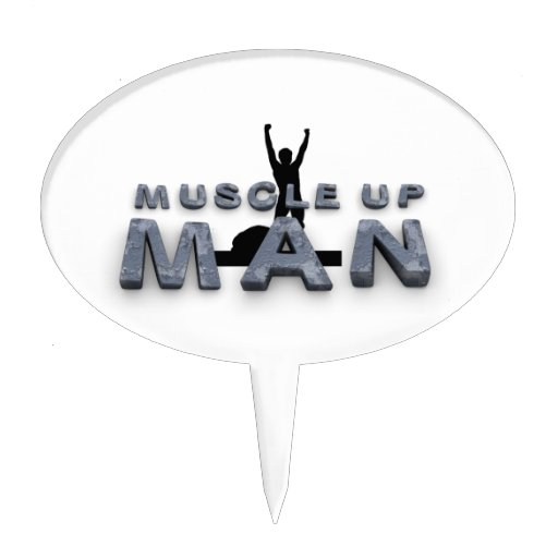 TOP Muscle Up Man Cake Pick
