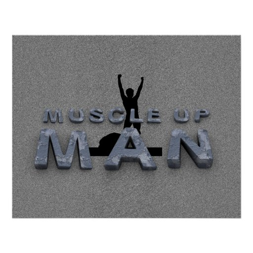 TOP Muscle Up Man Posters