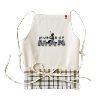 TOP Muscle Up Man Zazzle HEART Apron