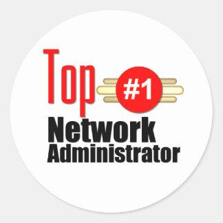 Top Network Administrator Round Sticker