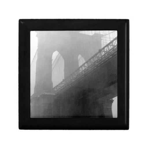 Top-Niebla del puente de Brooklyn Caja De Recuerdo