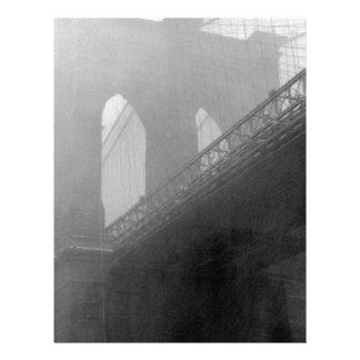 Top-Niebla del puente de Brooklyn Membrete