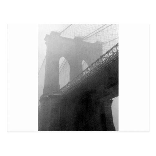 Top-Niebla del puente de Brooklyn Postal