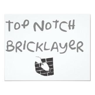 Top notch bricklayer card
