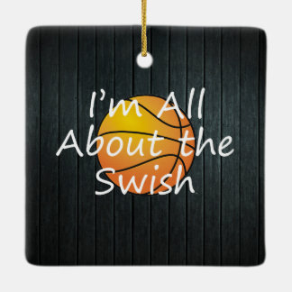 TOP Nothing But Swish Ceramic Ornament