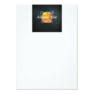 TOP Nothing But Swish 5x7 Paper Invitation Card
