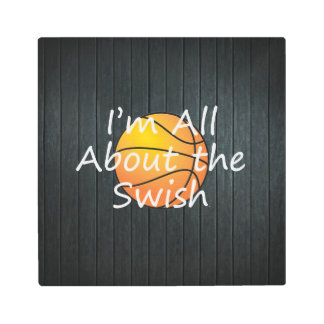 TOP Nothing But Swish Metal Print