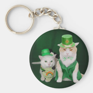 Top o' the Mornin' Bubba & Lucky Missy Basic Round Button Keychain