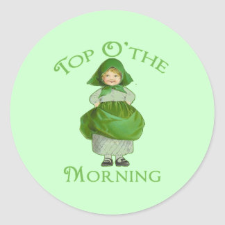 Top O the Morning Cute Products Classic Round Sticker