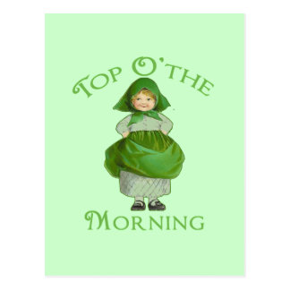 Top O the Morning Cute Products Postcard