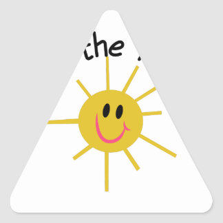 Top O The Morning! Triangle Sticker