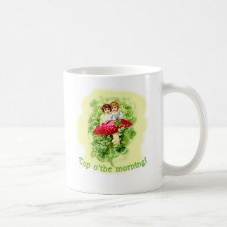 Top O the Morning Vintage Illustration Coffee Mug
