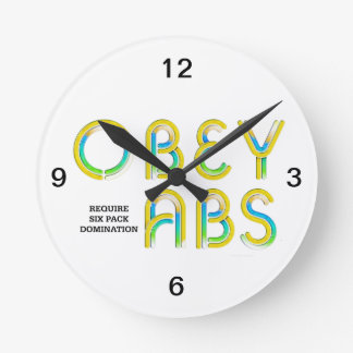 TOP Obey Abs Round Wall Clock