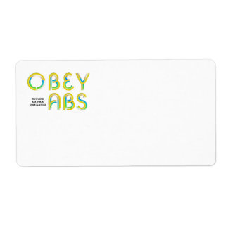 TOP Obey Abs Label
