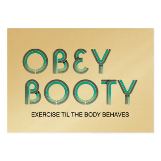TOP Obey Booty Business Cards