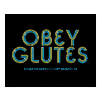 TOP Obey Glutes Posters