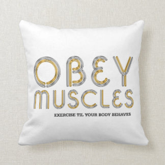 TOP Obey Muscles Throw Pillow