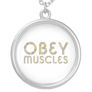 TOP Obey Muscles Silver Plated Necklace