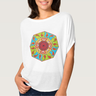 Top octagonal de la mandala del RGB, camiseta
