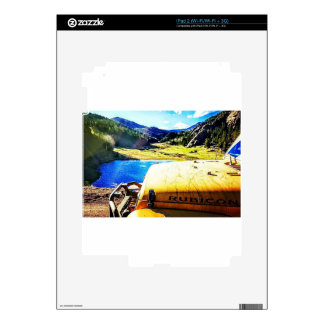 Top of a Yellow Jeep with Mountains iPad 2 Skin