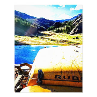 Top of a Yellow Jeep with Mountains Letterhead