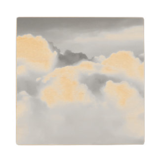 Top of cumulus nimbus. wood coaster