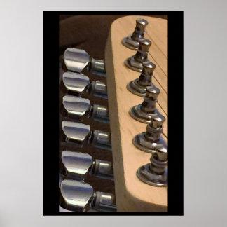 Top of Guitar Poster