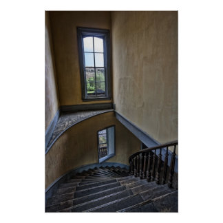 TOP of HOTEL MEADE GRAND STAIRCASE - BANNACK Print