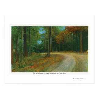 Top of Middle Ravine of Saratoga Battlefield Postcard