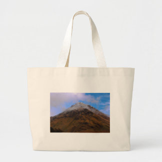 Top of Mountain Large Tote Bag