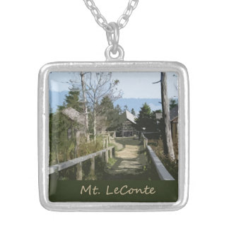 Top of Mt LeConte Photo Art Necklace