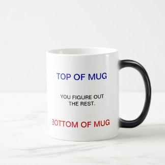 TOP OF MUG, BOTTOM OF MUG