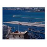 Top of Oldmoore Castle and Runway, Gibraltar Postcard