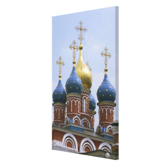Top of Russian Orthodox Church in Russia Canvas Print