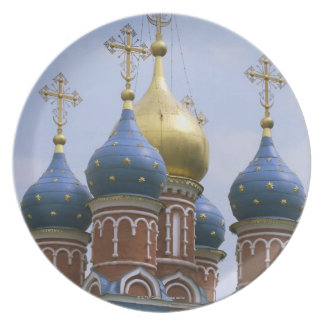 Top of Russian Orthodox Church in Russia Party Plates