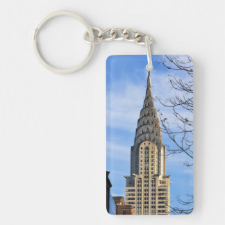 Top of the Chrysler Building, Bare Trees Keychain