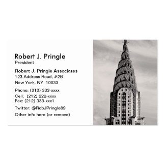 Top of the Chrysler Building NYC - B&W Business Card Template