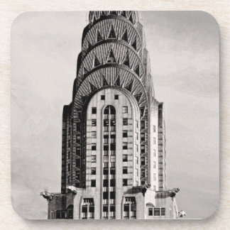 Top of the Chrysler Building NYC - B&W Drink Coaster