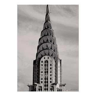 Top of the Chrysler Building NYC - B&W Posters