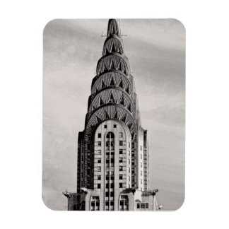 Top of the Chrysler Building NYC - B&W Rectangular Photo Magnet
