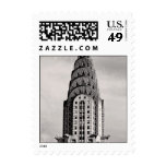 Top of the Chrysler Building NYC - B&W small Stamp