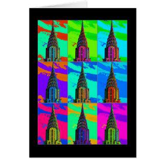 Top of the Chrysler Building Pop Art Card