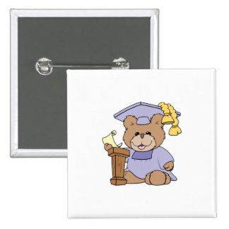 top of the class graduation bear design 2 inch square button