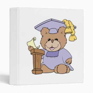 top of the class graduation bear design 3 ring binder