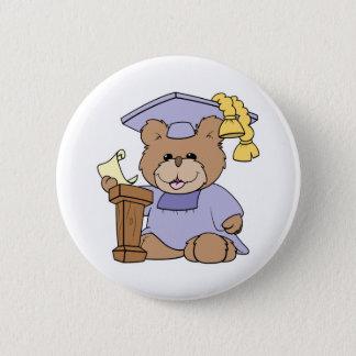 top of the class graduation bear design button
