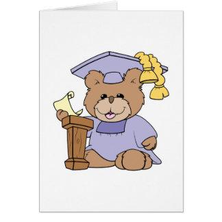 top of the class graduation bear design greeting card