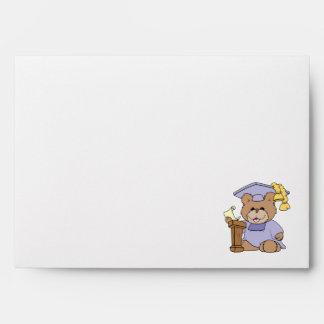 top of the class graduation bear design envelopes