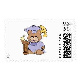 top of the class graduation bear design postage
