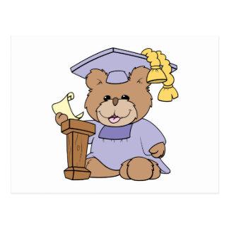 top of the class graduation bear design postcard